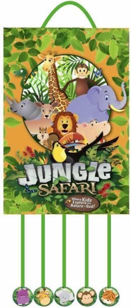 Simply Good Simply Good Jungle Safari Theme Pinata Pull String Birthday Party / Goodies Bag 1pc Pull String Pinata