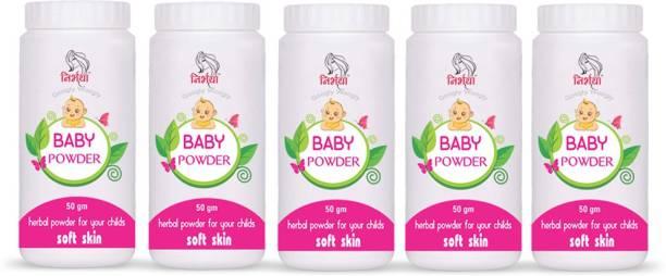 NIRBHAYA Baby Powder 50gm Powder Skin Care Baby Powder Pack Of 5