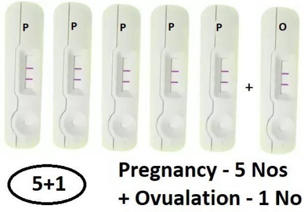 WebMedia 5 Nos Pregnancy Test (HCG Urine Test) and 1 No Ovulation Test (LH Test) Pregnancy Test Kit