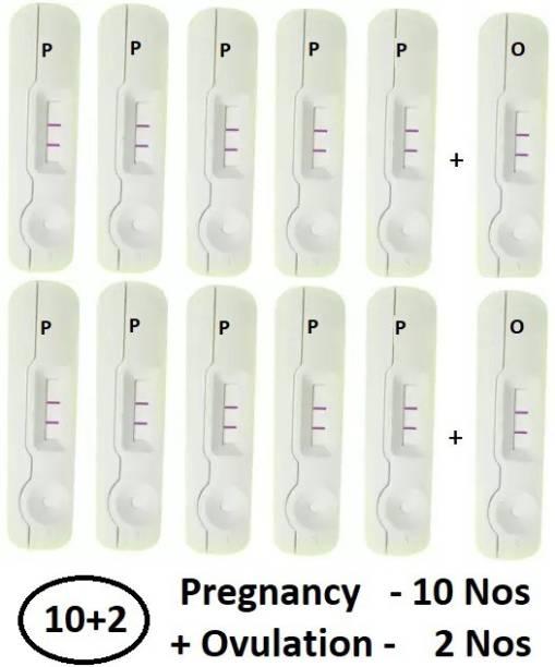 WebMedia 10 Nos Pregnancy Test (HCG Urine Test) and 2 Nos Ovulation Test (LH Test) Pregnancy Test Kit
