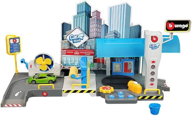 Bburago Car Wash Playset