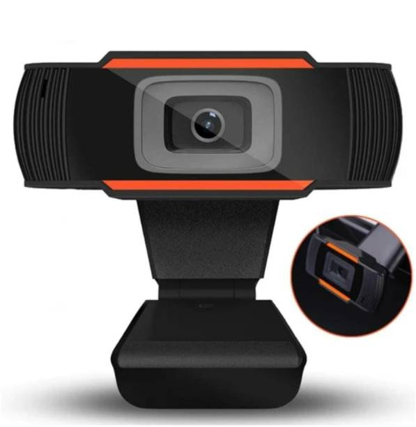 Second Vision Webcam Hd Video Experience with Microphone for Desktop Laptop with Video Resolution of 1280 x 720 Streaming Computer Usb Web Camera for Video Conferencing Teaching Streaming and Gaming  Webcam