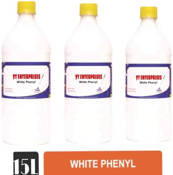 YT ENTERPRISES 15 liters white phenyl pack of 3 sweet