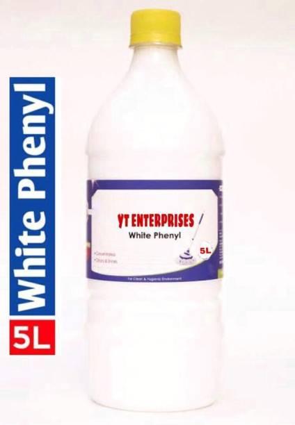 YT ENTERPRISES 5 liters white phenyl pack of 1 sweet