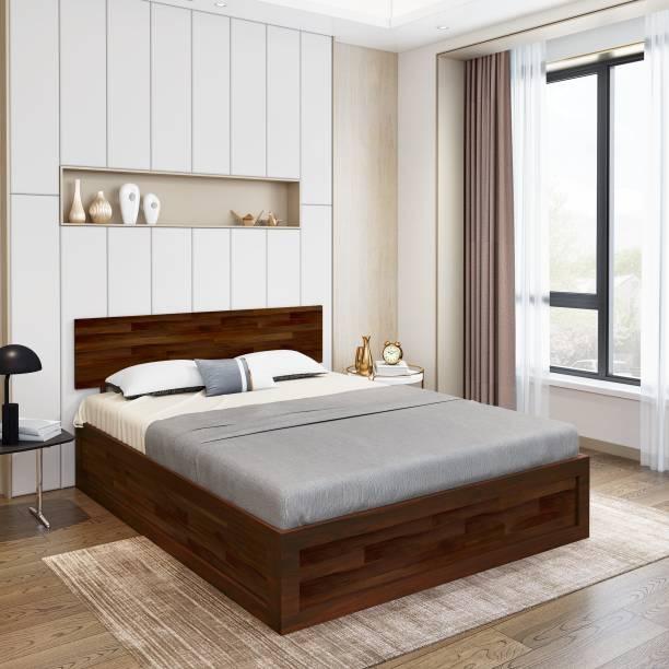 Flipkart Perfect Homes Solid Wood Queen Box Bed
