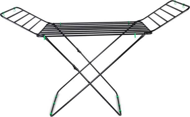 Flipkart SmartBuy Steel Floor Cloth Dryer Stand Pipe Cloth Stand Black Big FSB-002