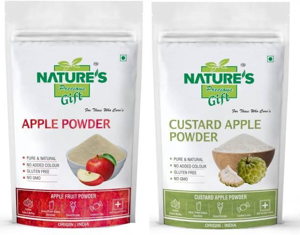 Nature's Precious Gift Apple Powder & Custard Apple Powder - 1 KG Each (Super Saver Combo Pack)