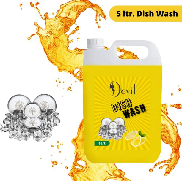 Devil 5 LTR Non Acidic dish wash Liquid Detergent (6 l) Dish Cleaning Gel Dish Cleaning Gel