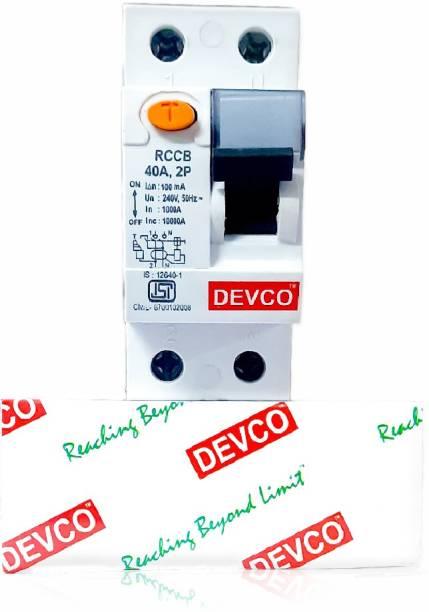 DEVCO 2-Pole 25-Amp (100mA)-RCCB RCC202510 MCB