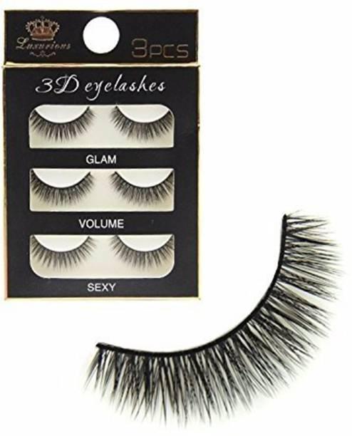 DALUCI 3pairs False Eyelashes 3D Natural Long Fake Eye Lashes Handmade Thick Eye Lashes