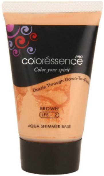 COLORESSENCE Aqua Shimmer Base, Brown with Shimmer Foundation