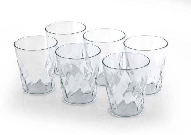 Solomon (Pack of 6) ™ Premium Quality Classic Unbreakable Food Grade | Water | Juice | Beer | Cold Drinks | Plastic Glass Crystal (Set of 6) (Clear) Glass Set