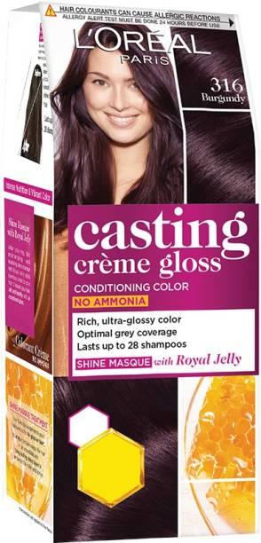 L'Oréal Paris Casting Crme Gloss Hair Colour Mini 316 Burgundy (Rs 30 Off) , 316 Burgundy