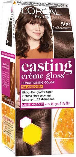L'Oréal Paris Casting Crme Gloss Hair Colour Mini 500 Medium Brown (Rs 30 Off) , 500 Medium Brown