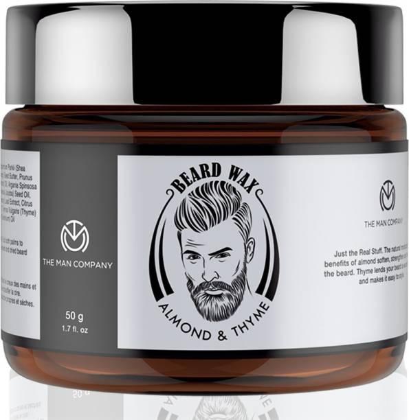 THE MAN COMPANY Beard Wax Almond & Thyme for beard styling (50 gm) Hair Wax
