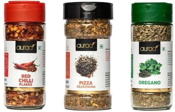 Auraa chilli flakes,oregano and pizza seasoning combo