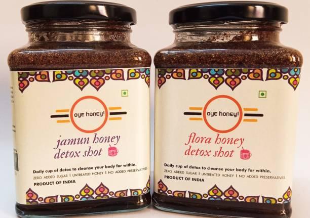 Oye Jamun Honey Detox Shot And Flora Honey Detox Shot ( 500 gm ) (Pack of 2)