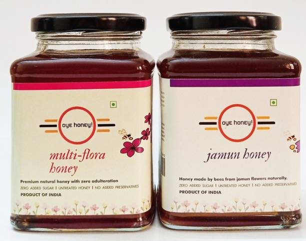 Oye Multi -Flora Honey And Jamun Honey ( 500 gm ) (Pack of 2)