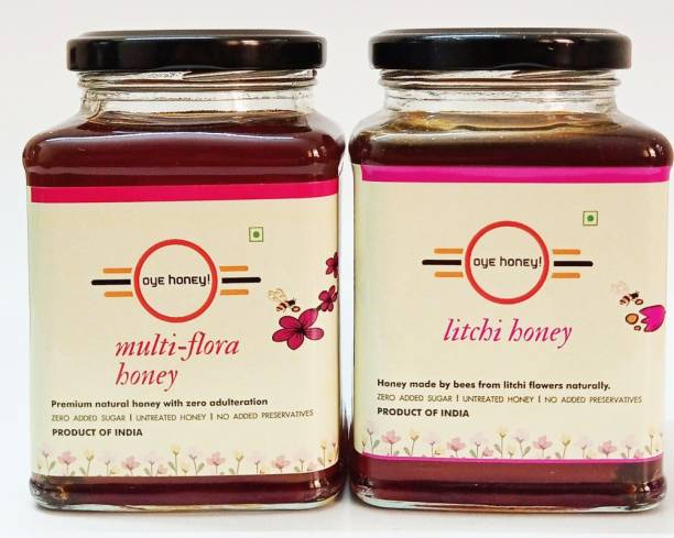 Oye Multi Flora Honey And Litchi Honey ( 500 gm ) ( Pack of 2)