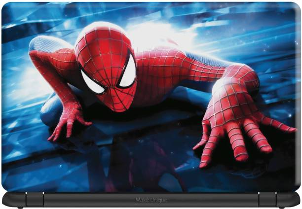 Make Unique Spiderman Climbing on Building Laptop Skin LDSA144 Vinyl Laptop Decal 15.6