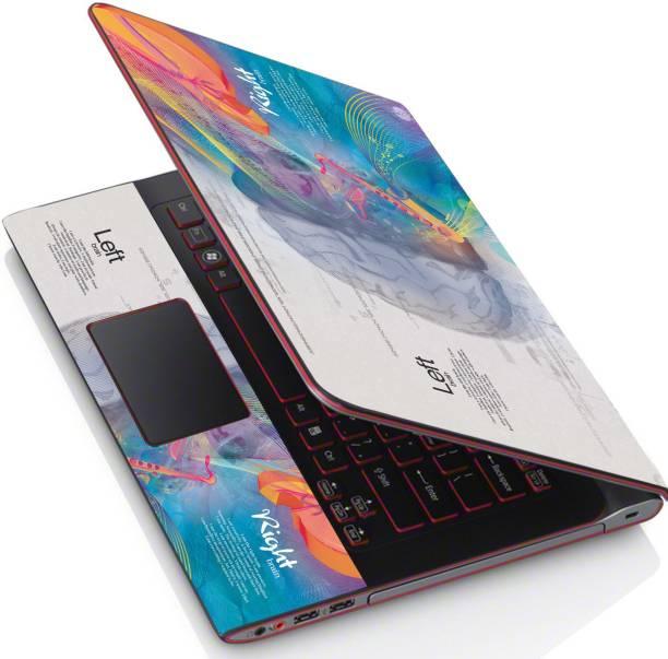 POINT ART HQ Laptop Skin Full Panel Decal Sticker Vinyl Fits Size Bubble Free – Blue Brain Left Right Vinyl Laptop Decal 15.6