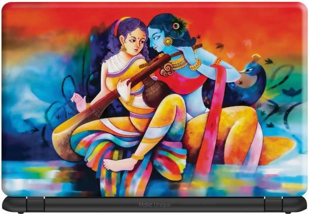 Make Unique Canvas Radhe Krishna Artwork Laptop Skin LDSA189 Vinyl Laptop Decal 15.6