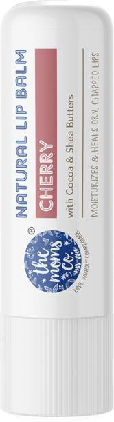 The Moms Co. Natural Cherry Lip Balm I Non Sticky I Protects & Nourishes Dry Chapped Lips I Shea & Cocoa Butter( 5gm) (Cherry) Cherry