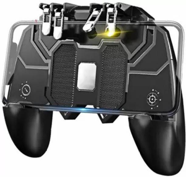 RRHR SALES AK-66 Six Finger All-in-One Mobile Game Controller Mobile Phone Handle L1R1 Fire and Aim Button PUBG Trigger Shooter Joystick  Motion Controller