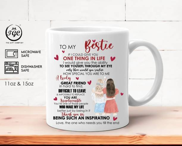 TGC THE GIFT COMPANY To my bestie | gift for best friend | gift for friendship day | best gift for friend | birthday gift for friend Ceramic Coffee Mug