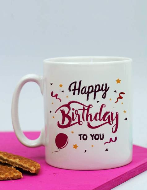 alDivo Premium Quality Happy Birthday To You Gift Printed Ceramic Coffee Mug