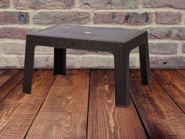 Anmol Moulded Furniture Fixed Centre Table With 1 Year Guarantee pack of 1 (Finish Color - Brown) Plastic Outdoor Table