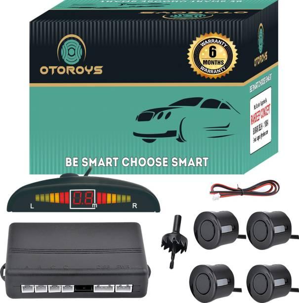 Otoroys Buzzer and Ultrasonic Reverse Parking Auto Radar Detectors (Black) Car Reverse Parking Sensor with LED Display, Parking Sensor