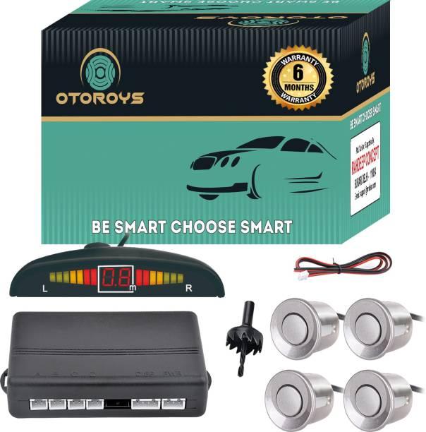 Otoroys Buzzer and Ultrasonic Reverse Parking Auto Radar Detectors (Silver) Car Reverse Parking Sensor with LED Display Parking Sensor