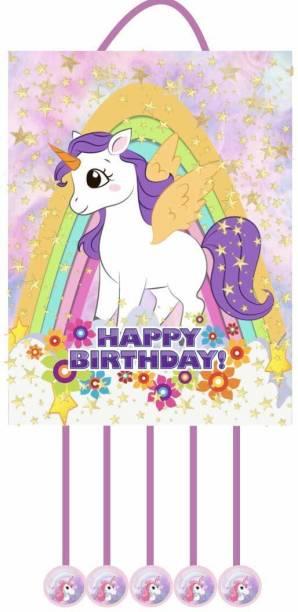 Simply Good Simply Good Unicorn Theme Pinata Pull String Pinata Birthday Party / Goodies Bag 1pc Pull String Pinata