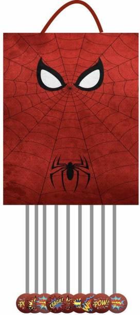 Simply Good Simply Good Spiderman Theme Pinata Pull String Pinata Small for Birthday Party / Goodies Bag 1 pcs Pull String Pinata