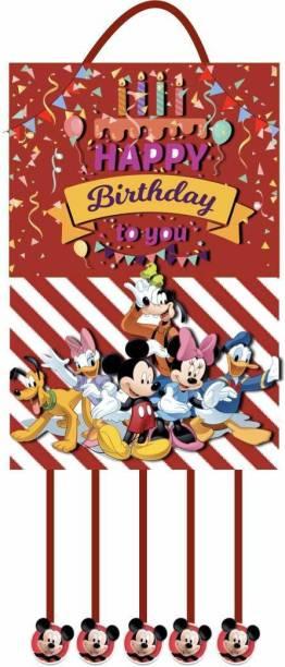 Simply Good Simply Good Mickey Mouse Theme Pinata Pull String Pinata Birthday Party / Goodies Bag 1pc Pull String Pinata