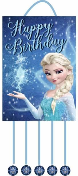 Simply Good Simply Good Frozen Princess Theme Pinata Pull String Birthday Party / Goodies Bag 1 pc Pull String Pinata