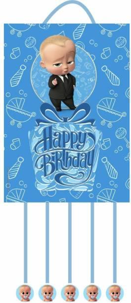 Simply Good Simply Good Baby Boss Theme Pinata Pull String Pinta Birthday Party / Goodies Bag 1 pc Pull String Pinata