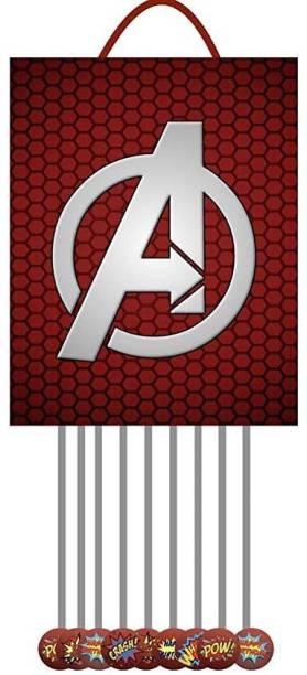 Simply Good Simply Good Avengers Theme Pinata Pull String Pinata Small for Birthday Party / Goodies Bag 1 pcs Pull String Pinata