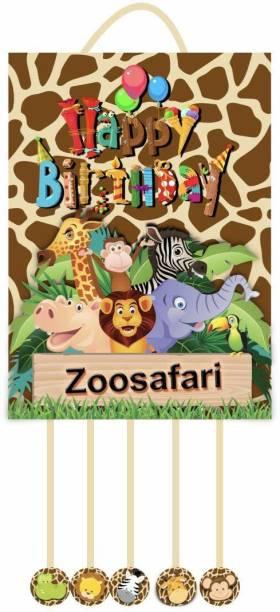 Simply Good Simply Good Jungle Theme Pinata Pull String Pinata Birthday Party / Goodies Bag 1pc Pull String Pinata