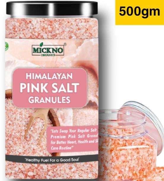 mickno organics 500gm Himalayan Pink salt Granules for weight loss Pure organic Authentic Granules Himalaya Pink Salt for Bath & Cooking Himalayan Pink Salt