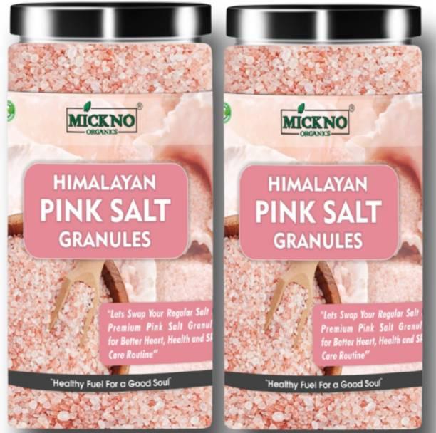 mickno organics 1kg Himalayan Pink salt Granules for weight loss Pure organic Authentic Granules Pink Salt for Bath & Cooking Himalayan Pink Salt