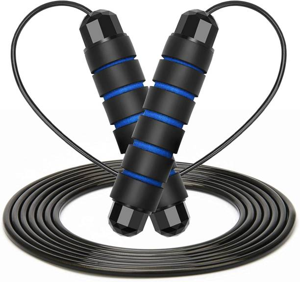 Wearslim Skipping Rope with Ball Bearings Rapid Speed Jump Rope Cable and Foam Handles Ball Bearing Skipping Rope