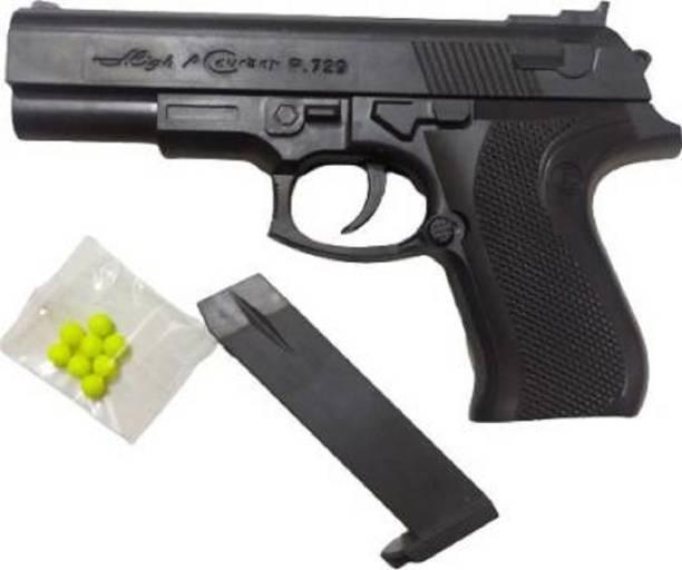 ADVcollection (All Day Valuable) PUBG Mouser Pistol Gun 729 With Laser light for kids Guns & Darts (Black) Guns & Darts