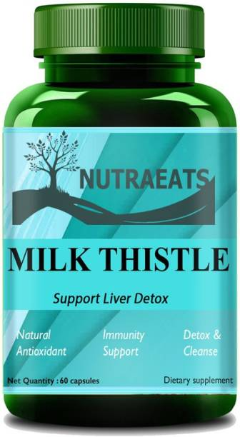 NutraEats Nutrition Milk Thistle (Silymarin) Capsules for Liver Detox and Cleansing Ultra