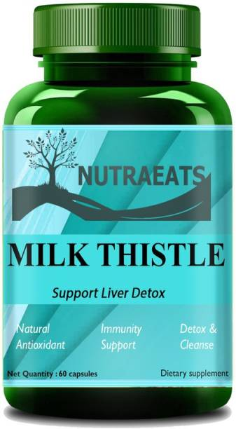 NutraEats Nutrition Milk Thistle (Silymarin) Capsules for Liver Detox and Cleansing