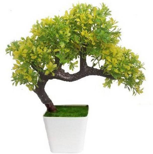 KAYKON Artificial Bonsai Wild Plant with Plastic Pot - 10 inch Bonsai Wild Artificial Plant  with Pot