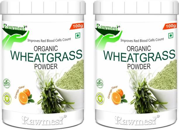 Rawmest 100% Organic Wheat Grass Powder Non-GMO, Vegan, Superfood | Antioxidant, Energy, Detox, Immunity Booster, Skin Health|