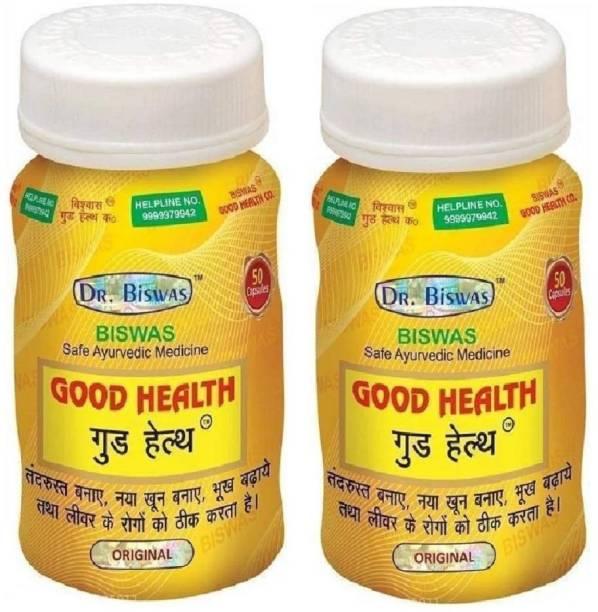 Dr. Biswas Ayurvedic Medicine Good Health 50 Capsules (Pack of 2)