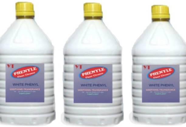 YT ENTERPRISES 15 liters white phenyl pack of 3 Sweet pine fragrance